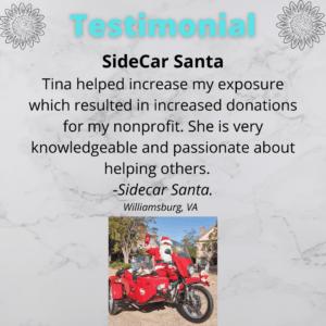 Sidecar Santa Testimony