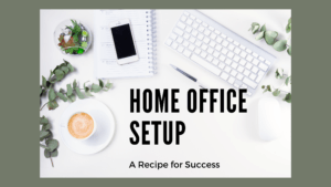 home office setup blog banner