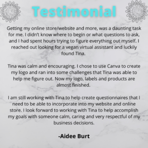 Aidee testimonial