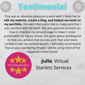 Julie testimonial