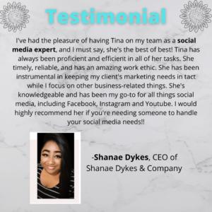 Shanae testimonial
